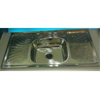 Wholesale factory liquidation North American Hot Sale WY10050C Layon  Kitchen sink with drainboard single bowl from china suppliers