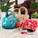 Buy cheap Wholesale Korean cute pula girl hand carry canvas coin purse cartoon cute cloth key bag coin bag from wholesalers