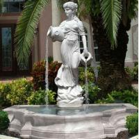 Buy cheap Stone carving statue fountain white marble sculpture water fountains ,stone carving supplier from wholesalers