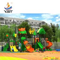 China Large new design eco-friendly outdoor playground plastic slide for children on sale