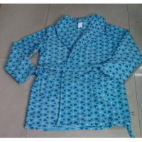 Buy cheap Bule Brushed Fleece Ladies' Robe / Pajama Sets With Front Pockets from wholesalers