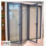 Buy cheap Powder Coated Aluminium Bifold Doors Anti Aging Folding Panel Doors GLASS FOLDING DOOR HARDWARE FOLDING DOOR from wholesalers