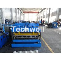 Buy cheap Metal Glazed Wave Tile Roll Forming Machine With Welded Wall Plate Frame and Chain Drive from wholesalers