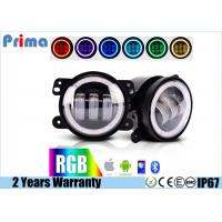 Buy cheap 4 Jeep Fog Lights  DRL RGB Halo Ring Fog lights  Assembly with Bluetooth Function for 1997-2017 Jeep Wrangler JK CJ LJ from wholesalers
