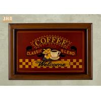 Buy cheap Decorative Wall Plaques Wooden Wall Signs Coffee Shop Wall Decor Antique Home Decorations from wholesalers
