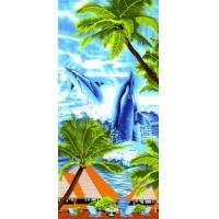 Buy cheap 100% Cotton Velvet Beach Towel Me-B218b from wholesalers