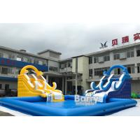 Buy cheap Customized Size Inflatable Water Slides With Swimming Pool For Business Rent from wholesalers