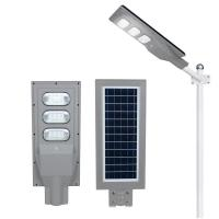 Buy cheap electronic ce rohs 130-140lm/W High brightness all in one 18 watt solar led street light from wholesalers