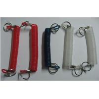 Buy cheap Solid Black/Red/Clear Bungee Spiral Key Ring Holders Cheap Price OEM Making from wholesalers