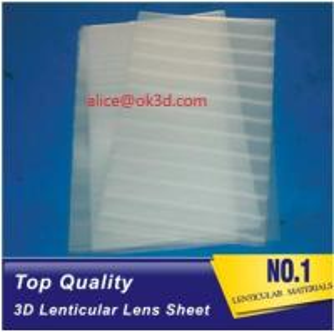Quality PET lenticular materials thinner lens 51x71cm,0.58mm 100LPI lens Sheet 3D for sale