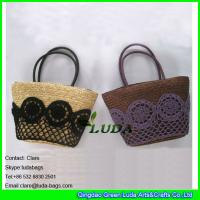 Buy cheap LUDA discount handbags crochet lace wheat straw tote bags from wholesalers
