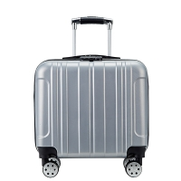Wholesale Four Spinner Wheels Silver #8 Zipper Carry On Trolley Luggage from china suppliers