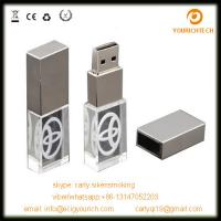Buy cheap 3D laser engraved glow cheap custom metal crystal usb flash drive from wholesalers