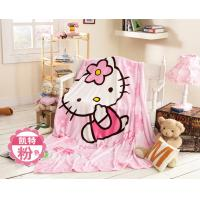 China Cute Animal Print Flannel Baby Blanket Screen Printing 100% Polyester Microfiber on sale