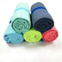 Buy cheap 80*160cm Jacquard Cabana Stripe Towel Soft Elastic Packaging For Sports Camping from wholesalers