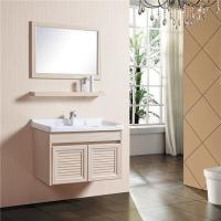 Buy cheap Wooden Grain Bathroom Sinks And Vanities Fire Proof Anti Corrode With 780mm Shelf from wholesalers