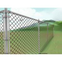 Buy cheap PVC Coated Chain Link Security Fence Quickly Installation Long Serve Life from wholesalers