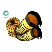 Buy cheap 600gsm 1300d PVC Coated Spiral Duct , Fabric Flame Retardant Tunnel Flexible Vinyl Duct from wholesalers