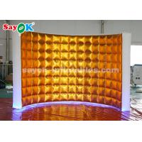 Buy cheap Golden Oxford Cloth Inflatable Photo Booth Wall with LED Lights for Trade Show from wholesalers