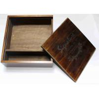 Buy cheap Wedding Gift Slide Top Wooden Box , Pine Square Wooden Box With Lid from wholesalers