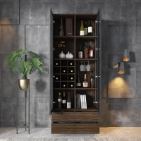 Buy cheap Corner Bar Wine Glass Display Cabinet from wholesalers