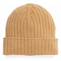 Buy cheap Unisex Wool Winter Hat , Warm Custom Knitted Beanie Hats Plain Color Strings Buckle Closure from wholesalers
