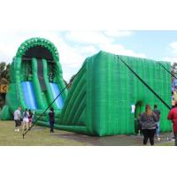 Green Inflatable Zip Line Sports For Outdoor Event Adventure Games Manufactures