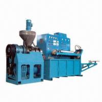China Fridge Magnetic Strip Extruder Machine with 60mm Screw Stem Diameter and 11kW Extruding Motor Power on sale