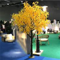 Wholesale Wind Resistant Artificial Ginkgo Tree Garden Landscape Decoration / fake Evergreen Tree from china suppliers