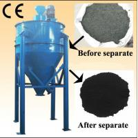 Buy cheap Fiber free tdf fiber removed separator rubber crumb system tire recycling plant from wholesalers