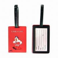 Wholesale Promotional Luggage Tag, Made of Soft PVC, Measures 10 x 6.5 x 0.8cm from china suppliers