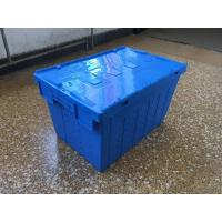 Buy cheap Attached Lid Mesh Body Plastic Storage Crates For Transportation product