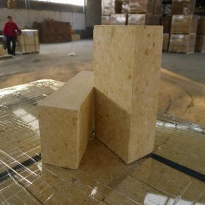 China Light Yellow Alumina Fireplace Refractory Brick Anti Stripping For Glass Kiln on sale