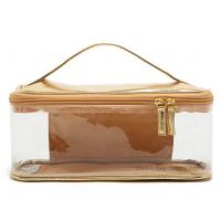 Buy cheap Gold Plastic Travel Cosmetic Bag Transparent PVC Makeup Pouch Vinyl Toiletry bag from wholesalers