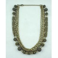Buy cheap 120g Women's Metal Bulk Jewelry Stone Antique Bronze Necklace for Anniversary from wholesalers