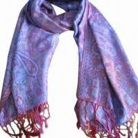 Wholesale Cashmere-like Scarf, Customized Specifications are Accepted, Measures 67 x 178 and 10 x 2cm from china suppliers