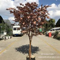 Buy cheap UV Protection Artificial Maple Tree Made Of Epoxy Resin , Fiberglass Durable from wholesalers