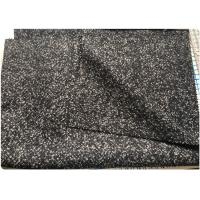 Wholesale Herringbone Heavy Wool Fabric Terry Cloth Dry Cleaning Black And White from china suppliers