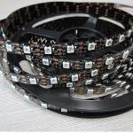 5V WS2812b Black PCB Strips Light RGB