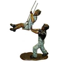 Buy cheap Art Deco Bronze Children Playing Sand Sculpture from wholesalers