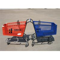Buy cheap 180L Pure Plastic Shopping Carts With Wheels , Custom Small Plastic Trolley from wholesalers