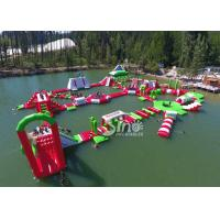 Buy cheap 35x30m Giant Floating Island Inflatable Floating Water Park with 0.9mm Pvc Tarpaulin product