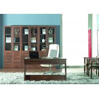 Buy cheap Melamine Finish Panel Modern Home Office Furniture With Solid Wood Bookshelf from wholesalers