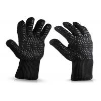 Wholesale Black Heat Resistant Work Gloves , Heat Resistant Silicone Bbq Gloves from china suppliers