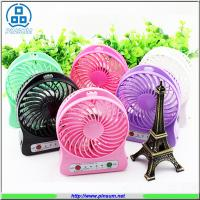 Buy cheap portable mini electronic fan rechargeable fan with USB power bank strong wind from wholesalers