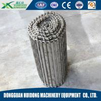 Buy cheap Fire Resistant Roller Track Conveyor , Collapsible Roller Conveyor With SS Wire Mesh Chain Link Plate from wholesalers