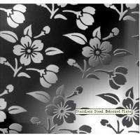Buy cheap Chrysanthemum Type 420 / 430 / 410 /304 Stainless Steel Embossed Sheet Decorative Plate EN from wholesalers