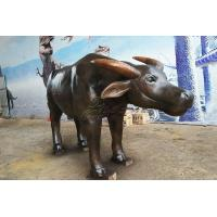 Buy cheap Life Size Artificial Cow Vivid Fiberglass Animal Cattle Statues from wholesalers