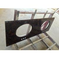 Buy cheap High Resistance Granite Vanity Tops Baltic Brown For Bathroom , SGS CE Listed product
