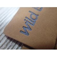 Buy cheap Eco- Friendly Washable Brown Soft Leather Embossed logo hang tag from wholesalers